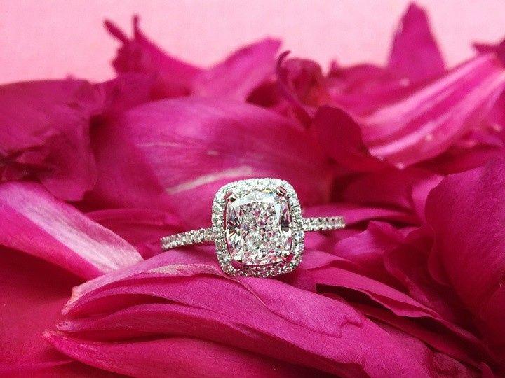 Tmx 1445271525123 Dallas Engaement Rings Cushion Halo Dallas wedding jewelry