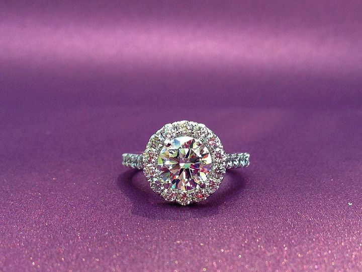 Tmx 1445271636297 Engagment Ring Dallas Round Halo Dallas wedding jewelry