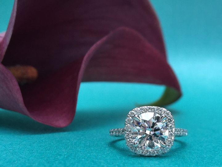 Tmx 1445271707705 Round Halo Diamond Ring Dallas Tx Dallas wedding jewelry