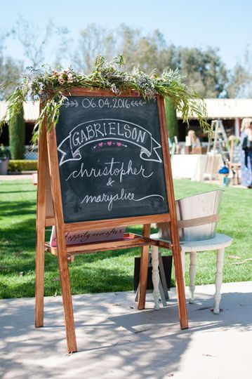 Personalized chalk board sign