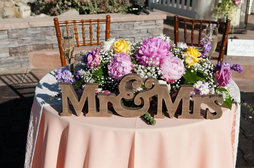 Mr & Mrs Sweetheart Table