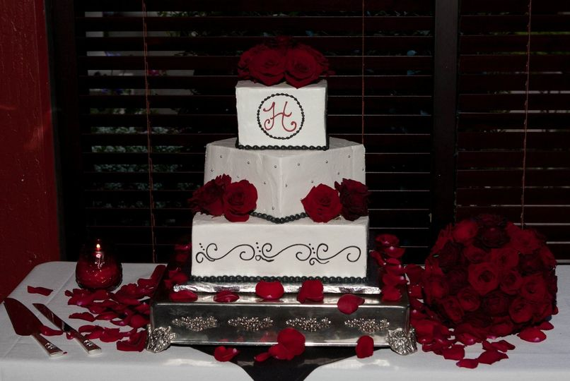 """Cake by """"I do wedding cakes"""" Morgan Hill bakery. It was beautiful & delicious!"""