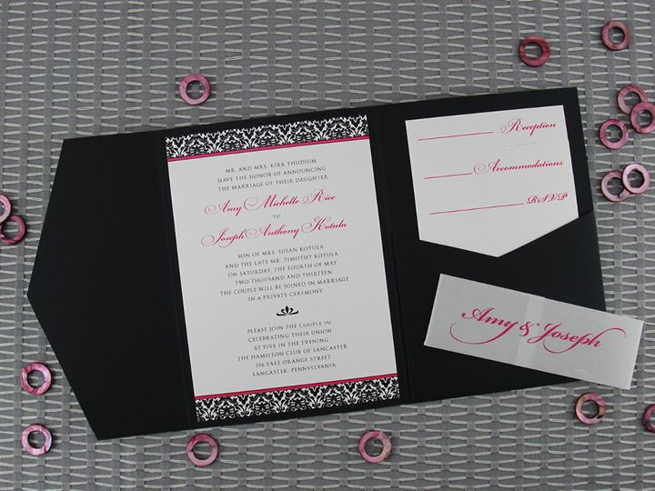 Tmx 1383077839297 Amyjosephinvitationse Lancaster, Pennsylvania wedding invitation