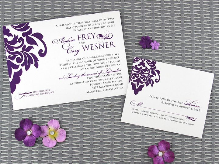 Tmx 1383077844783 Andreacoryinvitationse Lancaster, Pennsylvania wedding invitation