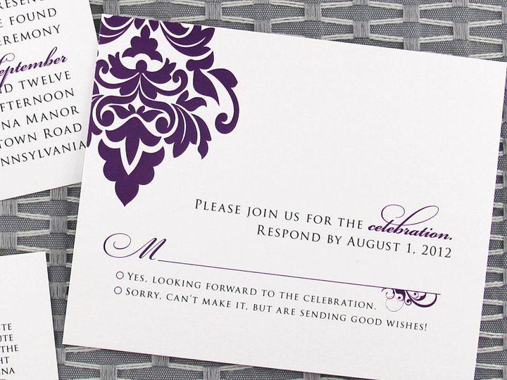 Tmx 1383077858060 Andreacoryrsv Lancaster, Pennsylvania wedding invitation