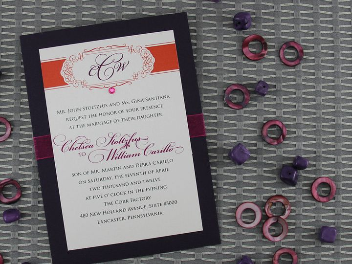 Tmx 1383077876543 Chelseawilliaminvitatio Lancaster, Pennsylvania wedding invitation
