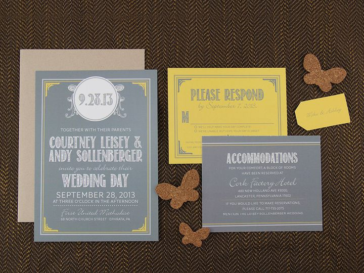 Tmx 1383077882875 Courtneyandyweddingse Lancaster, Pennsylvania wedding invitation