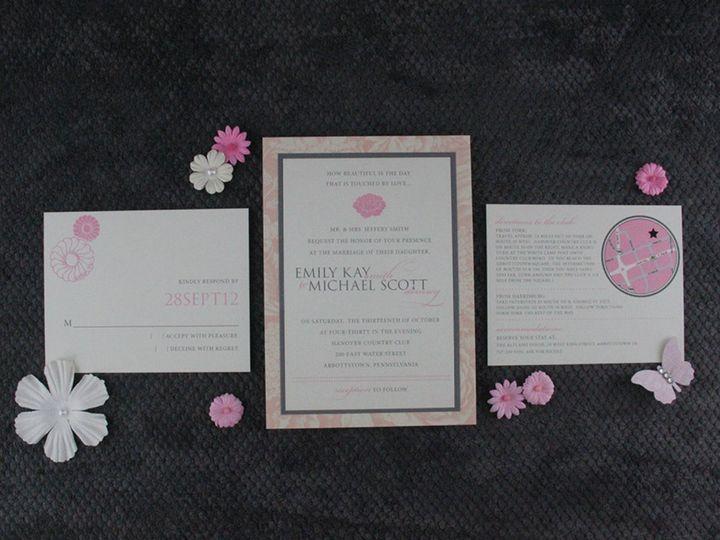 Tmx 1383077902237 Emilymichaelinvitationse Lancaster, Pennsylvania wedding invitation