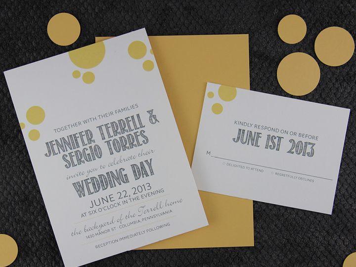 Tmx 1383077906772 Jennifersergioinvitationse Lancaster, Pennsylvania wedding invitation
