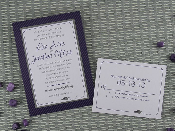 Tmx 1383077934137 Lisajonathaninvitationse Lancaster, Pennsylvania wedding invitation