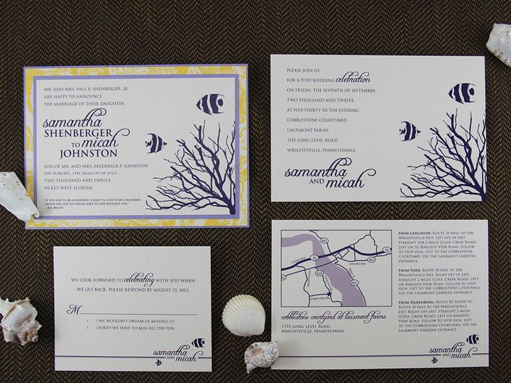 Tmx 1383077948400 Samanthatmicahinvitationse Lancaster, Pennsylvania wedding invitation