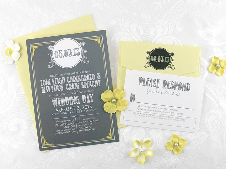 Tmx 1383077954949 Tonimatthewinvitationse Lancaster, Pennsylvania wedding invitation