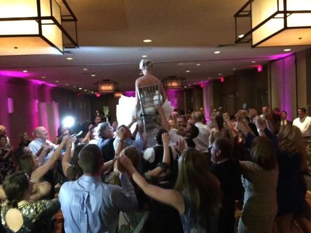 Lifting the bride