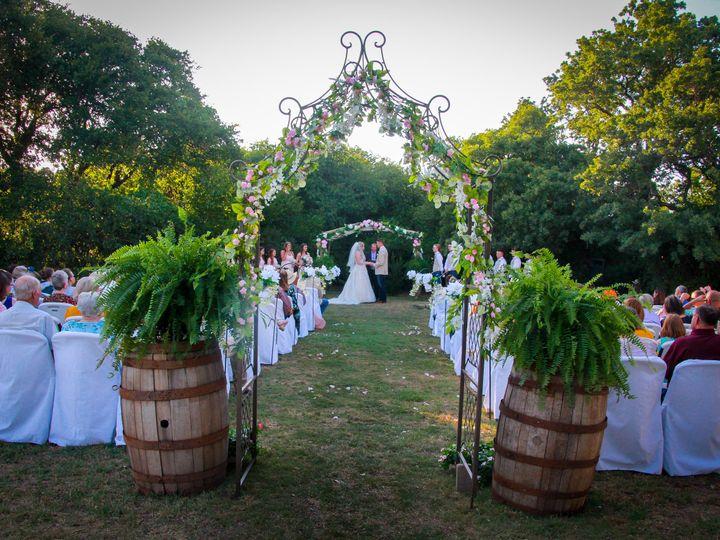 Tmx Ceremony Through The Arch 51 118610 Clyde, TX wedding venue