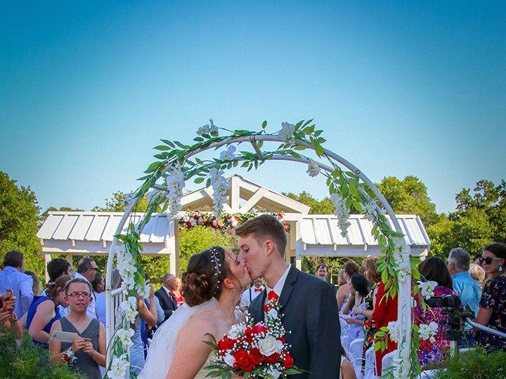 Tmx Kiss Under Arch 51 118610 157929041577574 Clyde, TX wedding venue