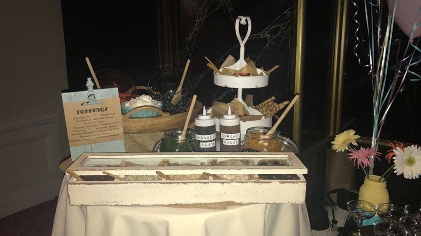 once frozen guests can adorn their treats with a wide array of tasty toppings!