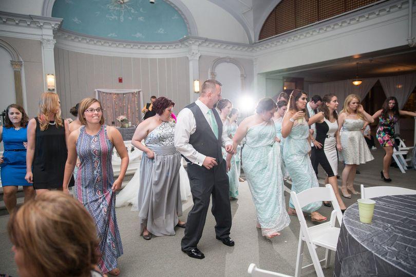 Dancing in front