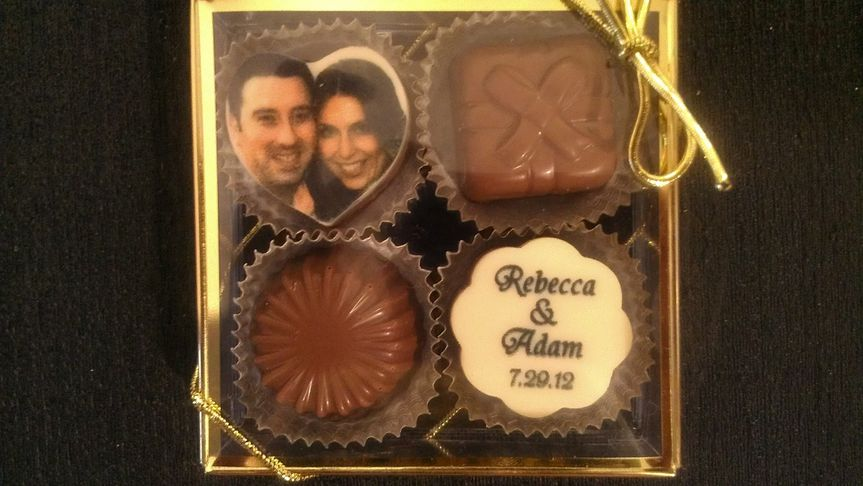 Four delicious Belgian Truffles. The images are edible!  A delicious and memorable way to add the...