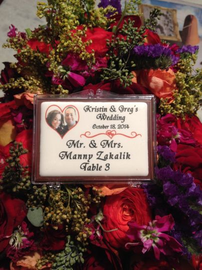 Chocolate seating cards or escort cards are a perfect way to welcome your guests and create...