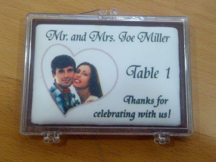 Tmx 1398802341171 Chocolate Trading Card As Seating Card With Edible Merrick wedding favor