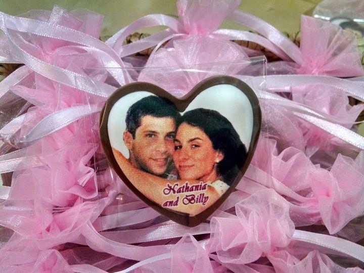 Tmx 1429071982806 Chocolate Pf Heart In Pink Bag   Bridal Shower Or  Merrick wedding favor