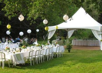 Outdoor reception set-up