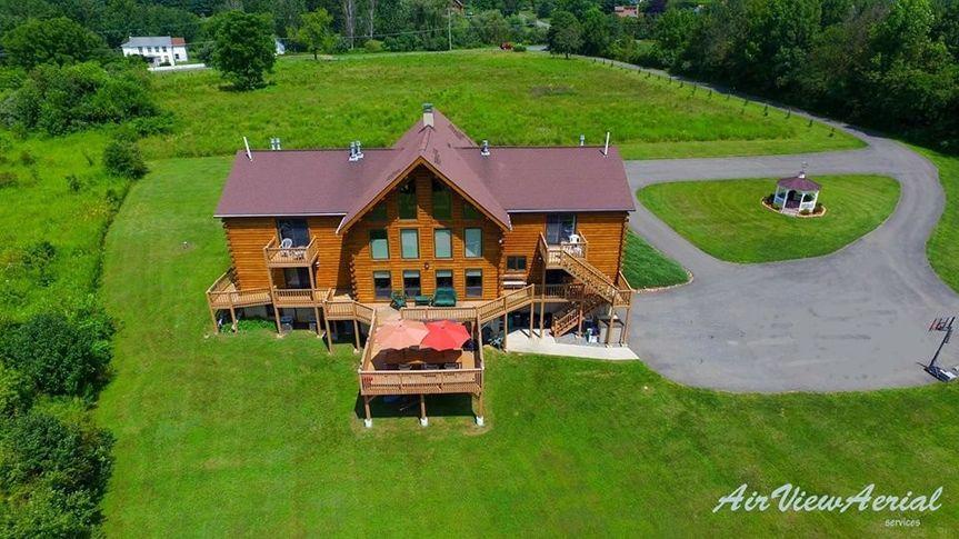 Lake View Lodge aerial view