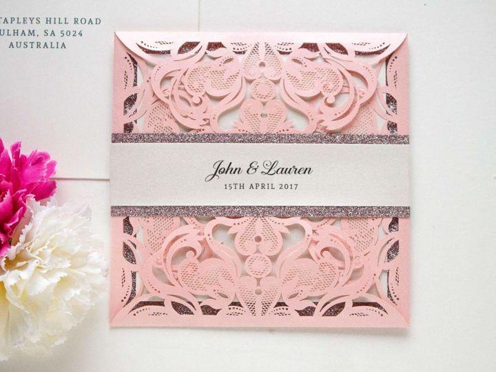 Pink cutout design