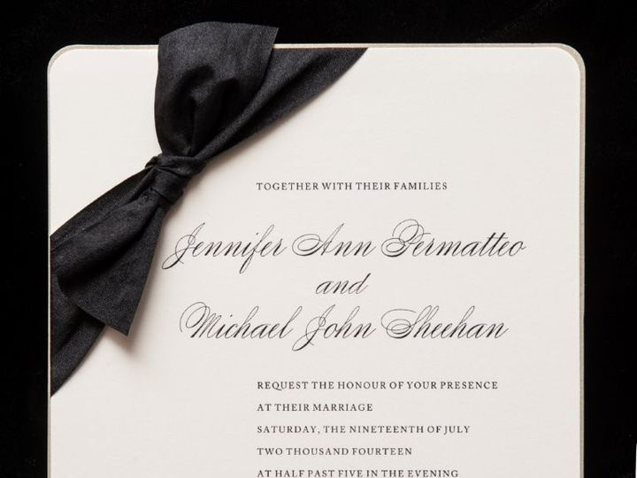 Tmx 1447784585595 Blackbow Lynn, Massachusetts wedding invitation