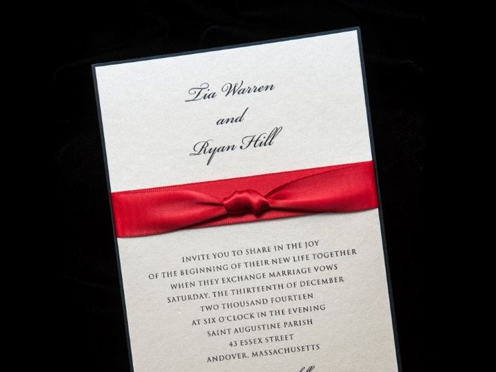 Tmx 1447784624715 Crblribbon Lynn, Massachusetts wedding invitation