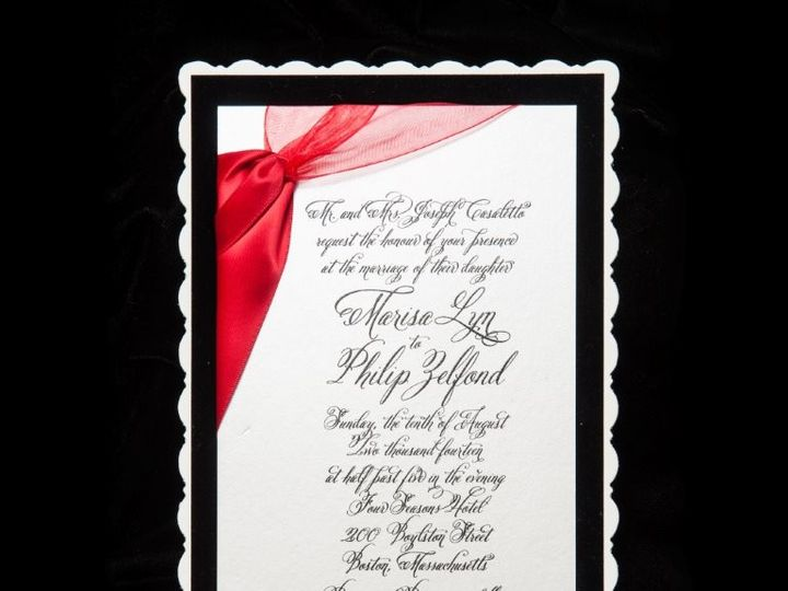 Tmx 1447784650827 Customredribbon Lynn, Massachusetts wedding invitation