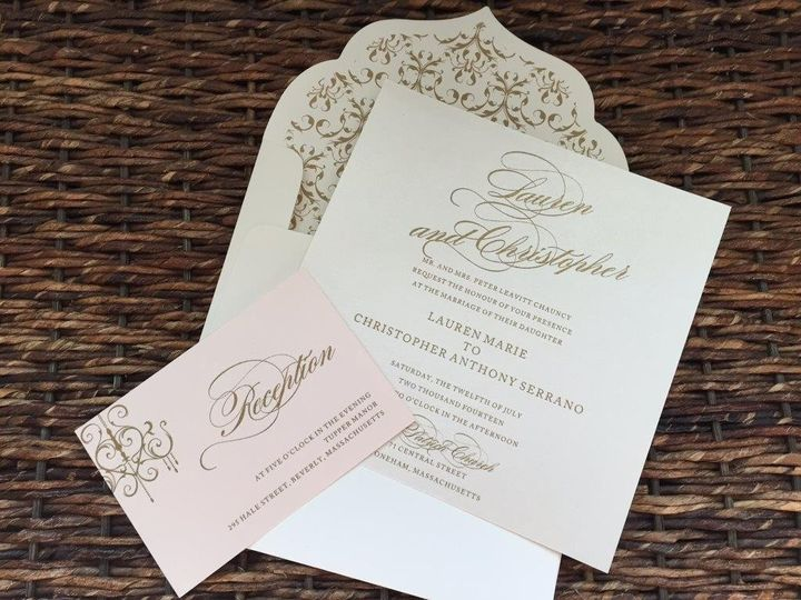 Tmx 1447784660490 Img0320 Lynn, Massachusetts wedding invitation