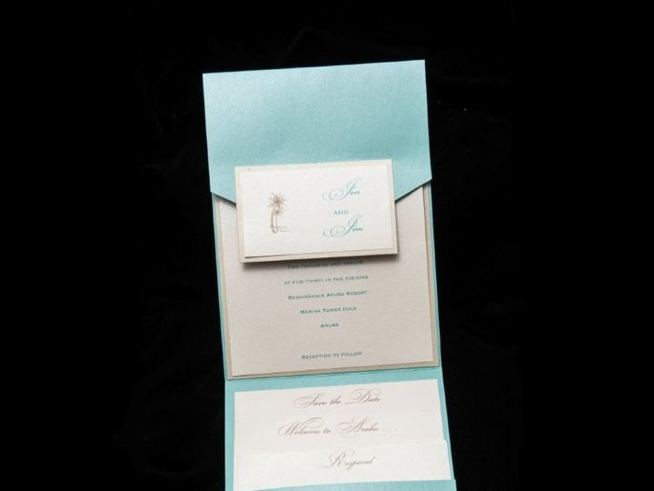 Tmx 1447784732357 Pocketaruba Lynn, Massachusetts wedding invitation