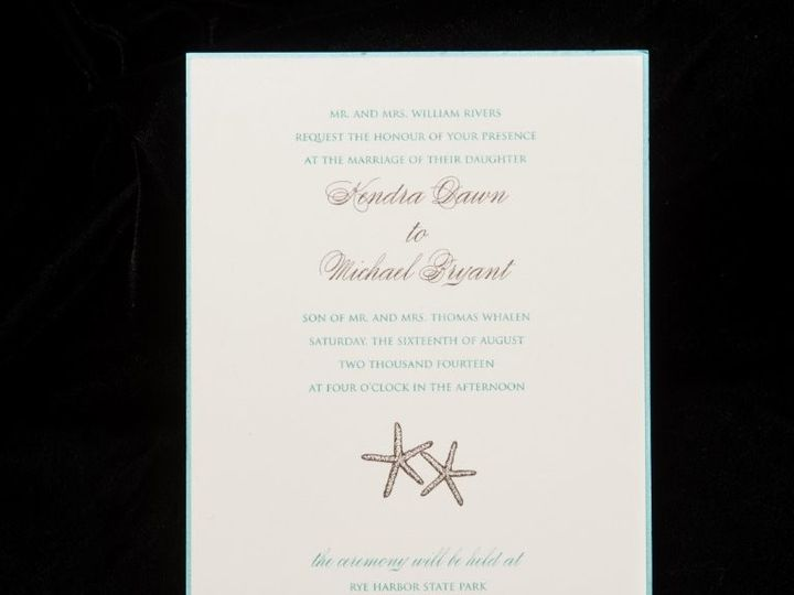 Tmx 1447784745354 Starfish Lynn, Massachusetts wedding invitation
