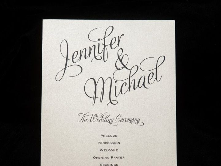 Tmx 1447856825887 Programgold Lynn, Massachusetts wedding invitation