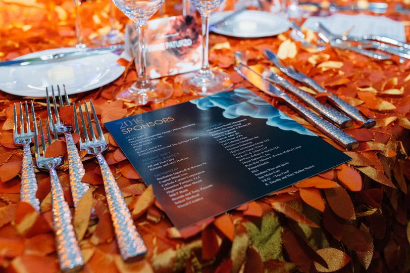 Menu on table