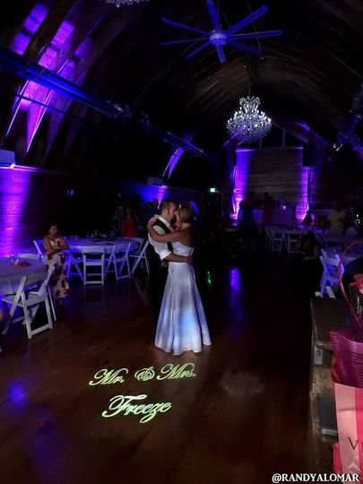 Ask about our up-lighting & our personalized like so your venue can look like this!