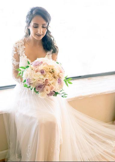 Beautiful bride Mrs. Cerda