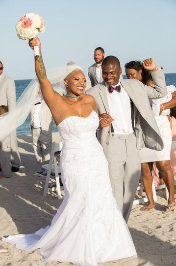 Beach ceremony exit