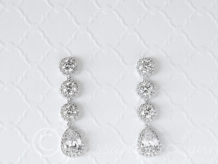 Tmx 1474995679976 Czdangledropbridalearrings Kansas City wedding dress
