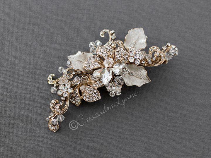 Tmx Beautiful Light Gold Bridal Hair Clip 51 356710 158731311694604 Kansas City wedding dress