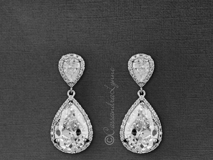 Tmx Big Per Drop Cz Earrings Bridal Clip On 51 356710 158731296918561 Kansas City wedding dress