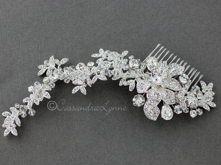 Tmx Crystal Bridal Headpiece Flowers Vine 51 356710 158731303347552 Kansas City wedding dress