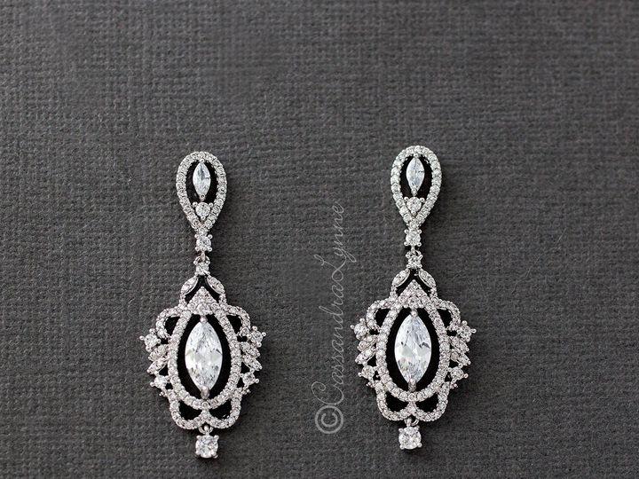 Tmx Intricate Vintage Cz Earrings 51 356710 158731303540222 Kansas City wedding dress