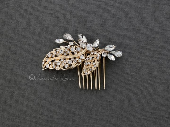 Tmx Leaf Gold Wedding Hair Comb 51 356710 158731311812963 Kansas City wedding dress