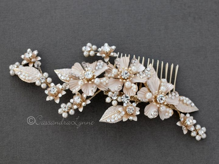 Tmx Light Gold Brushed Gold Wedding Hair Comb 51 356710 158731311938704 Kansas City wedding dress