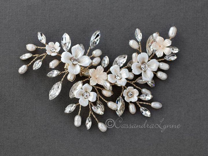 Tmx Light Gold Porcelain Flowers Wedding Comb 51 356710 158731319098346 Kansas City wedding dress