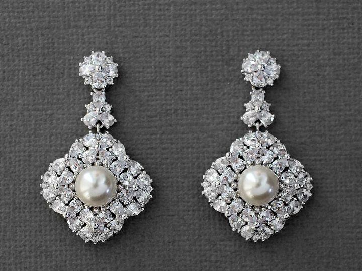 Tmx Pearl Accented Vintage Cz Earrings 51 356710 158731319089357 Kansas City wedding dress
