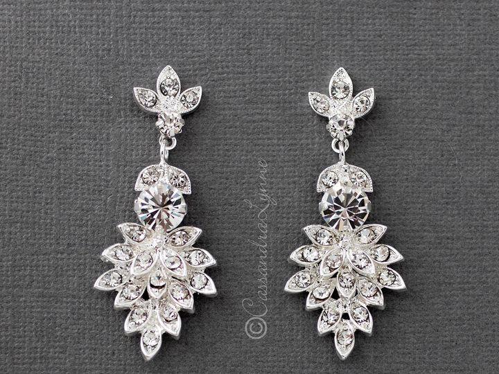Tmx Silver Crystal Cluster Leaf Earrings 51 356710 158731303689048 Kansas City wedding dress