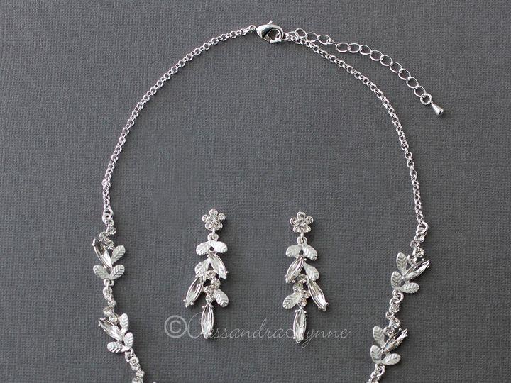Tmx Silver Crystal Leaf Bridal Necklace Set 51 356710 158731303627643 Kansas City wedding dress
